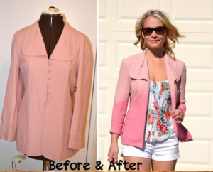 DIY :: Taking in a Blazer & Adding Ombre