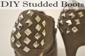 DIY :: Studded Boots