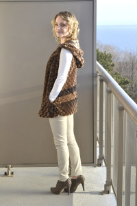 Faux Fur Vests with Studded Booties