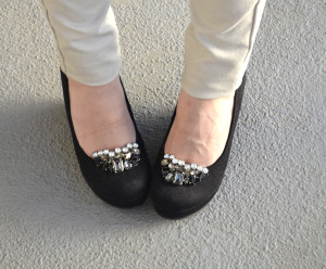 Changing up a Pair of Plain Black Wedges