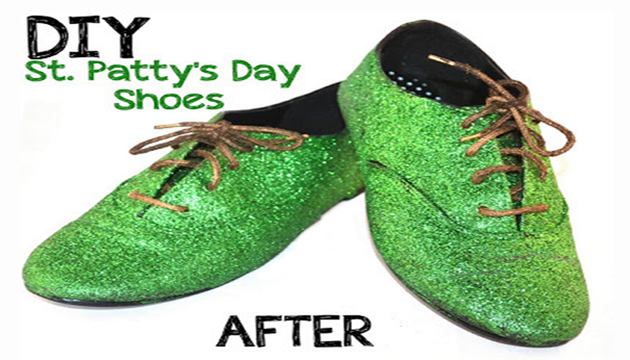 DIY :: St. Patricks Day Shoes