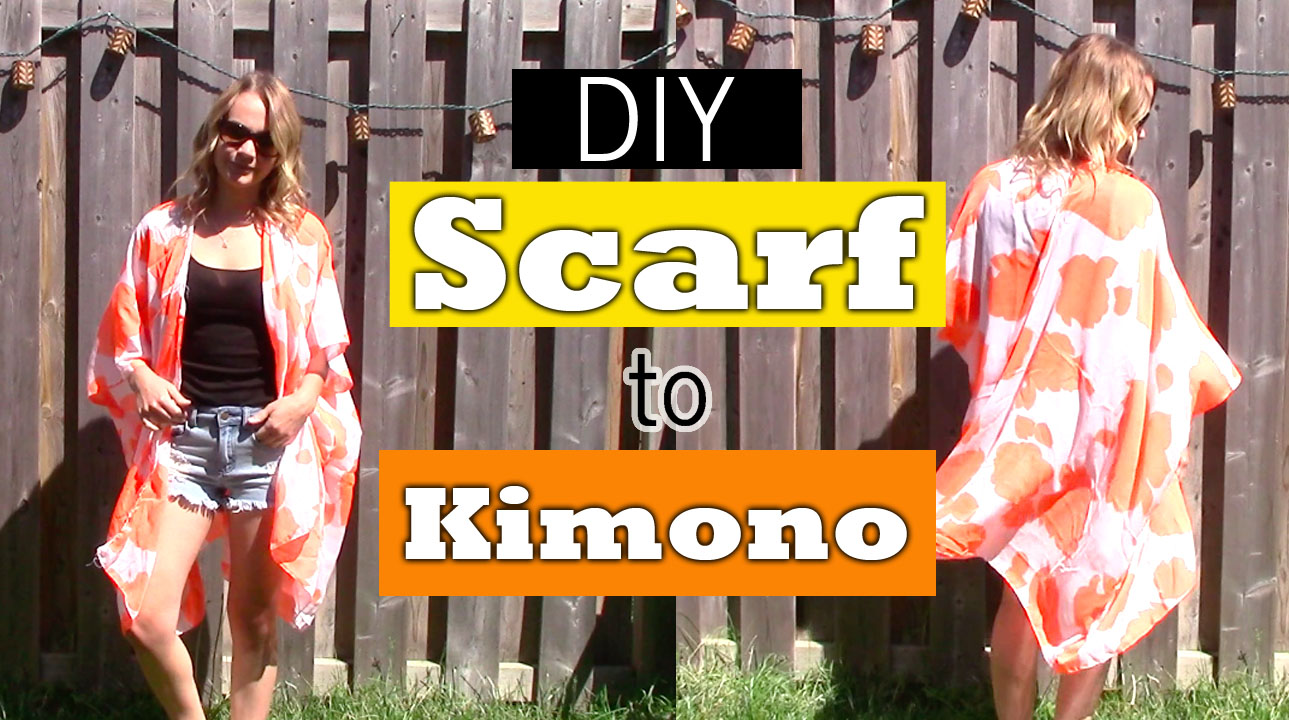Scarf, kimono, kimono diy, dollar store kimono, diy, do it yourself kimono, dollarstore kimono diy, easy kimono diy, how to create a kimono, how to diy a kimono, how to turn a scarf into a kimono, nelle creations diy, Toronto diy blogger, diy blogger, top diys, top kimono diy, Toronto blogger, top Toronto bloggers, kimono tutorial diy, what to do with an old scarf