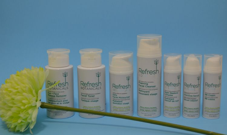 Refresh botanicals, Refresh botanicals review, Refresh botanicals skin care routine, Refresh botanicals review, Refresh botanicals ambassador, Refresh botanicals BB cream, Refresh botanicals makeup remover, Refresh botanicals moisturizer, Refresh botanicals night restore complex, Refresh botanicals facial toner, Refresh botanicals serum