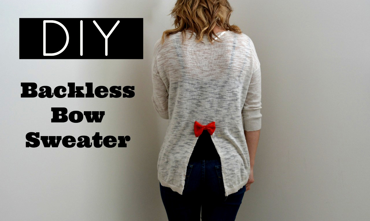 Diy backless shirt, fall sweater diys, winter sweater diys, fall cardigan diys, winter cardigan diys, sweater diys, cardigan diys, what to do with an old sweater, clothes upcycle, upcyling old clothes, what to do with old clothes, fall 2015 diys, winter 2015 diys, Canada youtube, Toronto youtube,