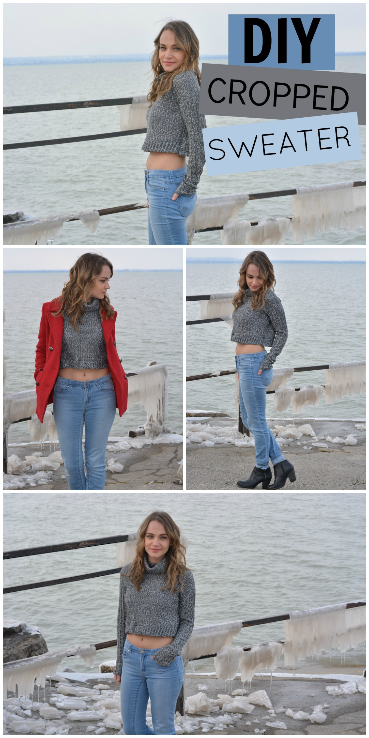 Easy DIY Crop Top Sweater Tutorial