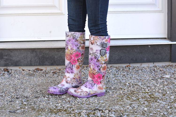 Styling Floral Rainboots