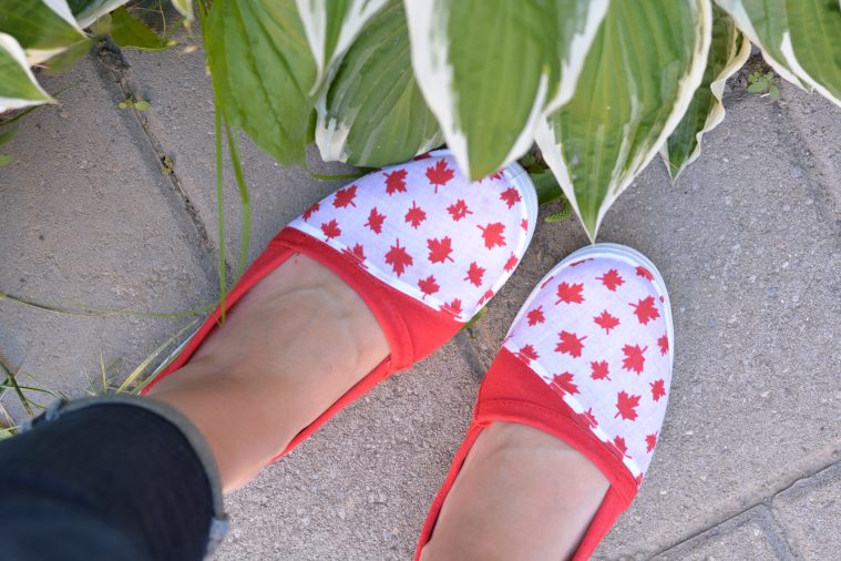 DIY Canada Day Shoes