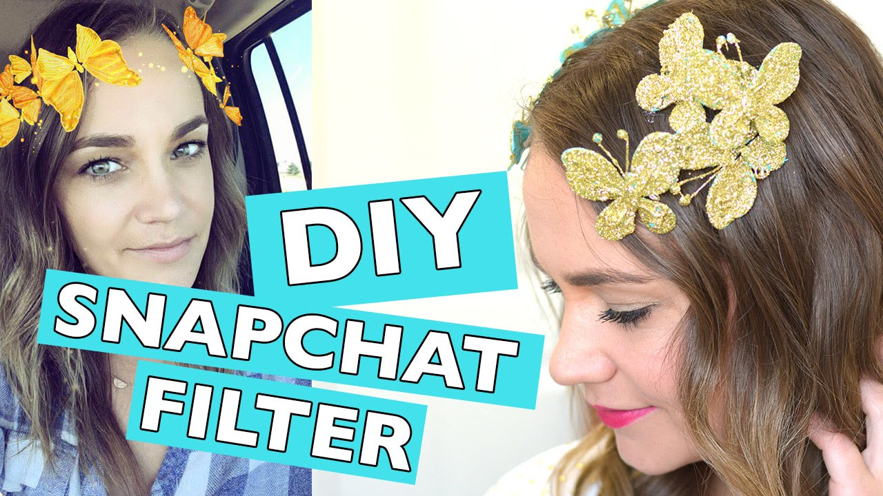 DIY Gold Butterfly Snapchat Filter Tutorial