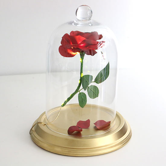 DIY Beauty and the Beast Enchanted Rose