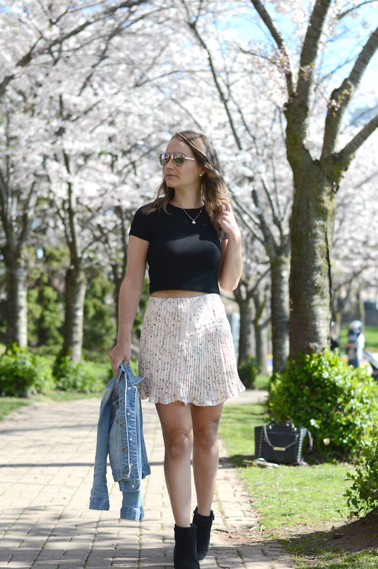 Moon River Cherry Blossom ShopBop Skirt