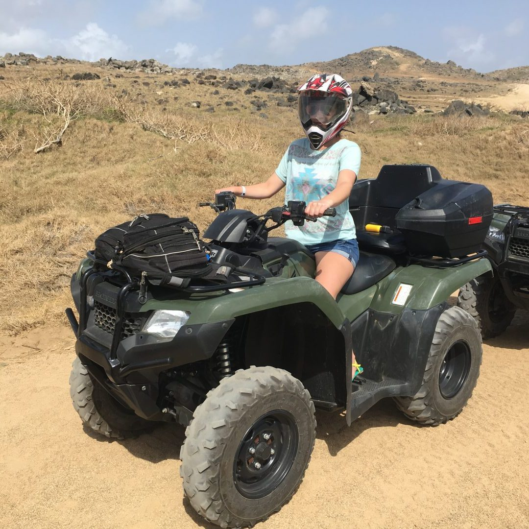 ATVing in Aruba