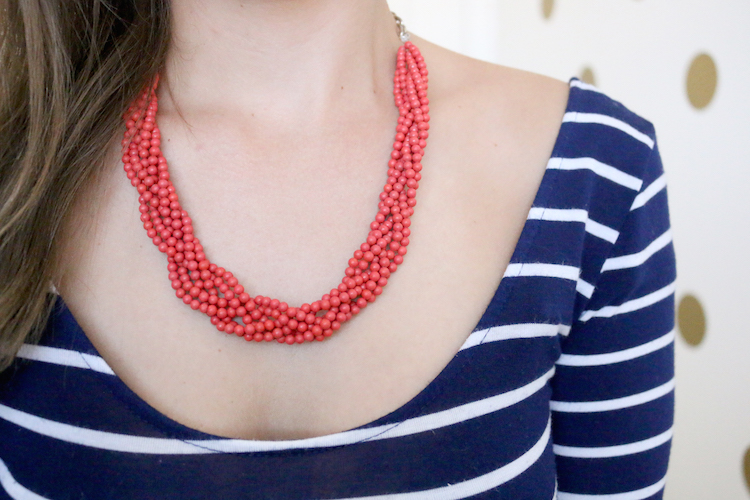 DIY Braided Beaded Necklace Tutorial