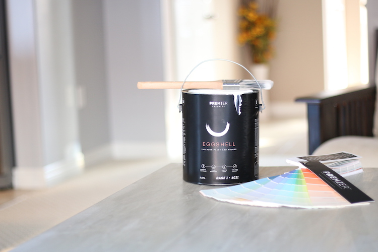 Painting with Canadian Tire Premier Paint