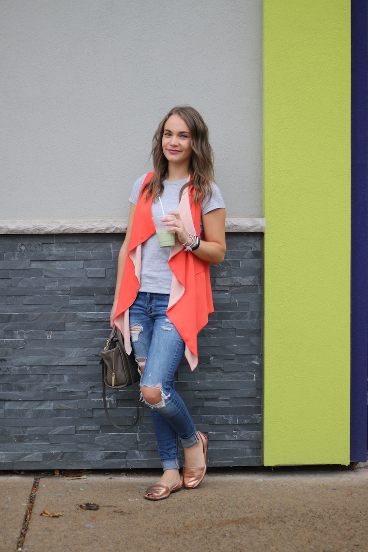 Recycling Old Clothes | Orange Vest Outfit
