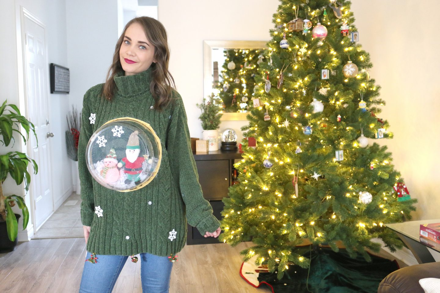 DIY Ugly Christmas Snow Globe Sweater
