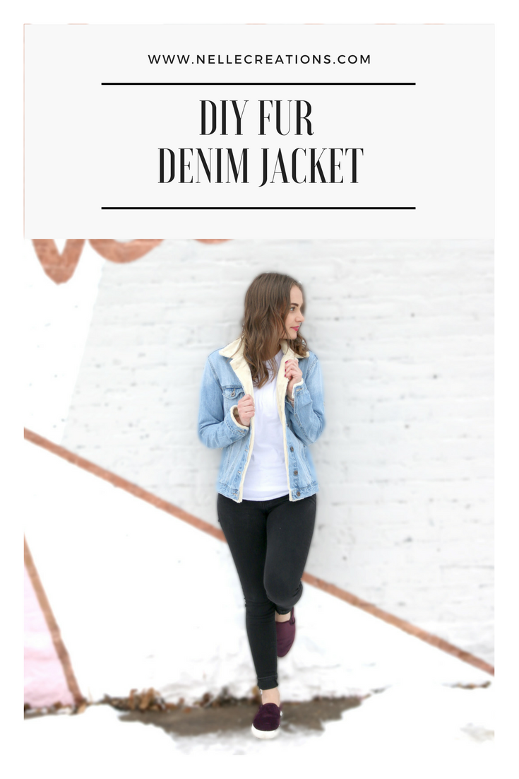 DIY Faux Fur Lined Jean Jacket