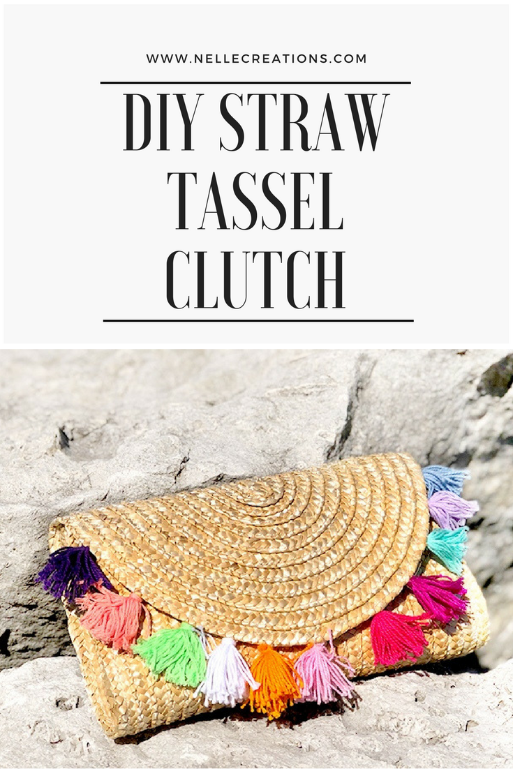 DIY Straw Tassel Clutch