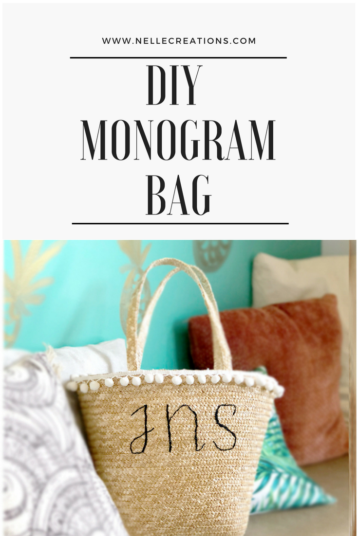 How to Monogram a Bag
