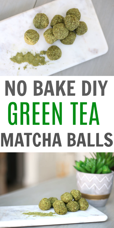 DIY Green Tea Matcha Balls