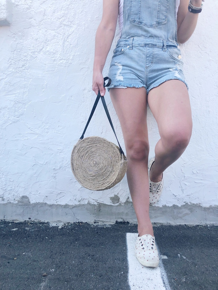 DIY Dollar Store Straw Bag