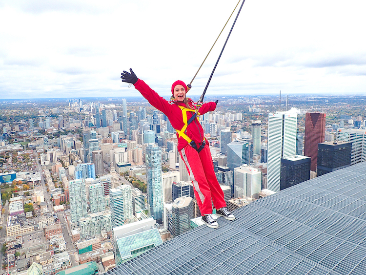 Walking on the World's Tallest Free-Standing Structure